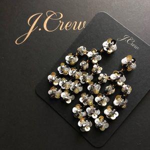 NWT J. Crew Sequin-daisy chandelier earrings